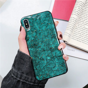 Accessories - Green Marble iPhone Case 7 8 Plus X XS XR Max Gold